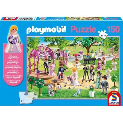 Puzzle  Schmidt-Spiele-56271 Playmobil - Hochzeit