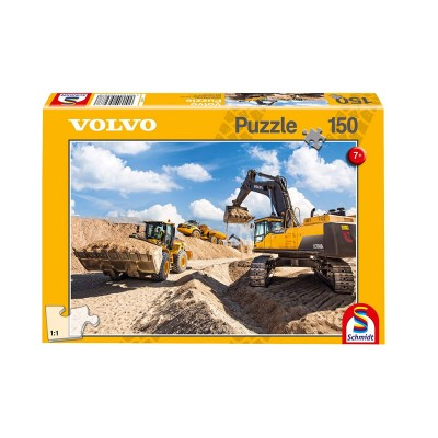 Puzzle  Schmidt-Spiele-56287 Volvo L120GZ, A40F, EC750D