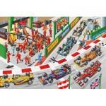 Puzzle  Schmidt-Spiele-56288 Was passiert beim Autorennen