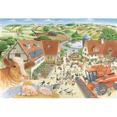 Puzzle  Schmidt-Spiele-56291 Entdecke den Bauernhof