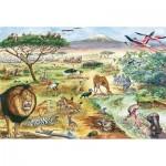 Puzzle  Schmidt-Spiele-56292 Tiere in Ostafrika