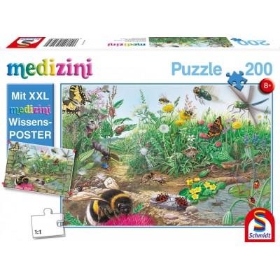 Puzzle  Schmidt-Spiele-56293 Entdecke die Welt der Insekten