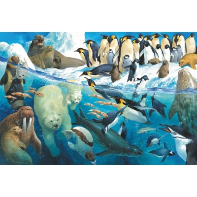 Puzzle  Schmidt-Spiele-56295 Tiere am Polarkreis