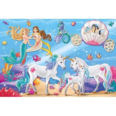 Puzzle  Schmidt-Spiele-56302 Der Zauber der Meerjungfrauen