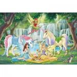Puzzle  Schmidt-Spiele-56304 Picknick der Elfen