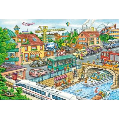 Puzzle  Schmidt-Spiele-56309 Fahrzeuge und Verkehr