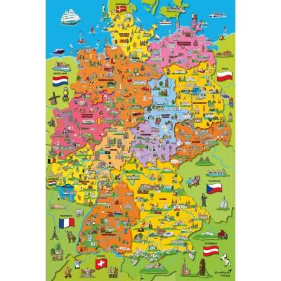 Puzzle  Schmidt-Spiele-56312 Deutschlandkarte mit Bildern