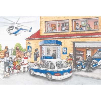 Puzzle  Schmidt-Spiele-56351 Polizeihubschrauber