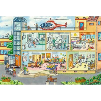 Puzzle  Schmidt-Spiele-56374 Im Kinderkrankenhaus