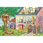 Puzzle  Schmidt-Spiele-56375 Die Fleißigen Handwerker