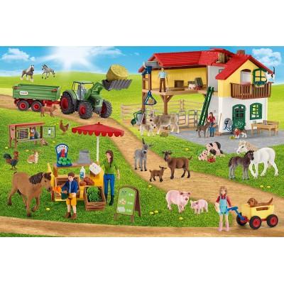 Puzzle  Schmidt-Spiele-56404 Farm World