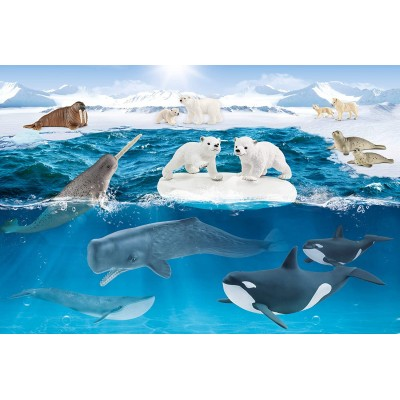 Puzzle  Schmidt-Spiele-56405 Wild Life in The Arctic
