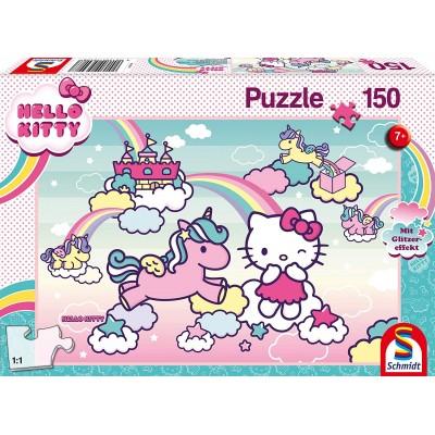 Schmidt-Spiele-56408 Kitty Glitter Puzzle, Kitty's Unicorn