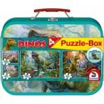 Schmidt-Spiele-56495 4 Puzzles - Dinosaurier