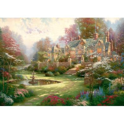 Puzzle  Schmidt-Spiele-57453 Thomas Kinkade: Landsitz