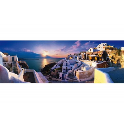 Puzzle  Schmidt-Spiele-58281 Sonnenuntergang auf Santorin
