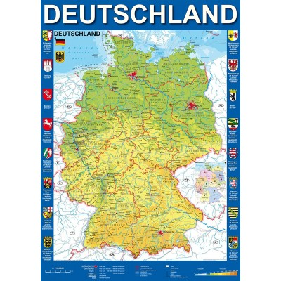 Puzzle  Schmidt-Spiele-58287 Deutschlandkarte