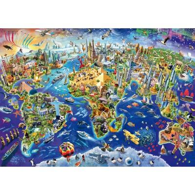 Puzzle  Schmidt-Spiele-58288 Entdecke Unsere Welt