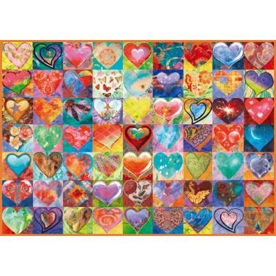 Puzzle  Schmidt-Spiele-58295 Herz an Herz
