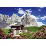 Puzzle  Schmidt-Spiele-58323 Segantinihütte, Dolomiten