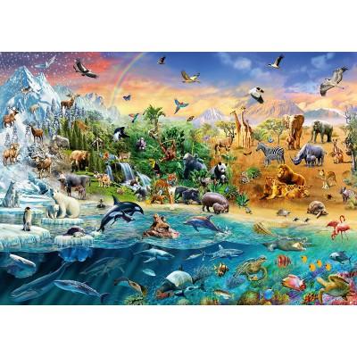 Puzzle  Schmidt-Spiele-58324 Die Welt der Tiere