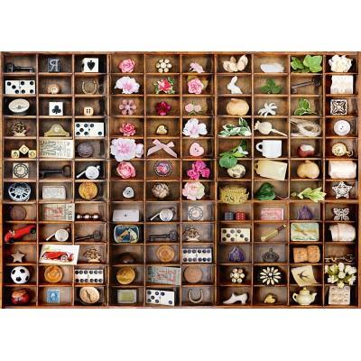 Puzzle  Schmidt-Spiele-58326 Schätze im Setzkasten