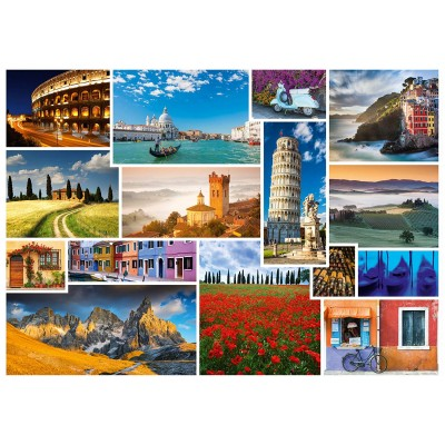 Puzzle  Schmidt-Spiele-58339 Mach mal Urlaub in ... Italien