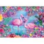 Puzzle  Schmidt-Spiele-58342 Flamingos