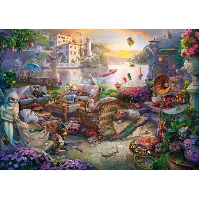 Puzzle  Schmidt-Spiele-58346 Italienische Terrasse