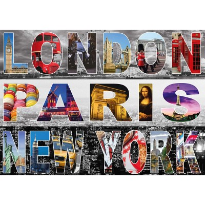 Puzzle  Schmidt-Spiele-58348 London, Paris, New York