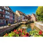 Puzzle  Schmidt-Spiele-58359 Dörfchen mit Fachwerkhäusern