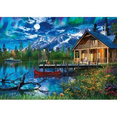 Puzzle  Schmidt-Spiele-58365 Bergsee im Mondlicht