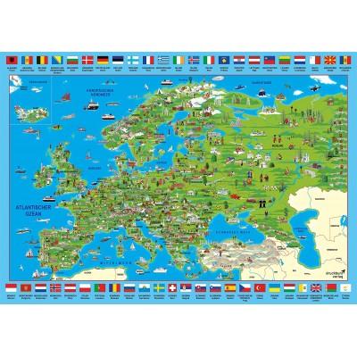 Puzzle Schmidt-Spiele-58373 Europa