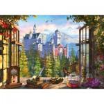 Puzzle  Schmidt-Spiele-58386 View of the Fairytale Castle