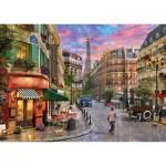 Puzzle  Schmidt-Spiele-58387 Straße zum Eiffelturm