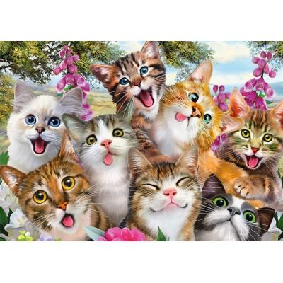 Puzzle  Schmidt-Spiele-58391 Cats' Selfy