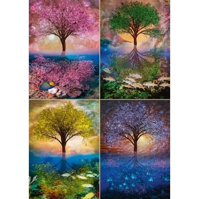 Puzzle  Schmidt-Spiele-58392 Magic Tree on the Lake