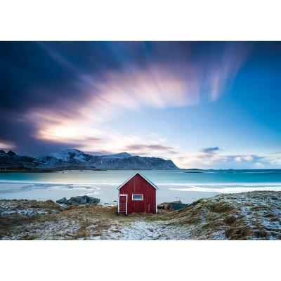 Puzzle  Schmidt-Spiele-58395 Hütte an der Atlantikküste