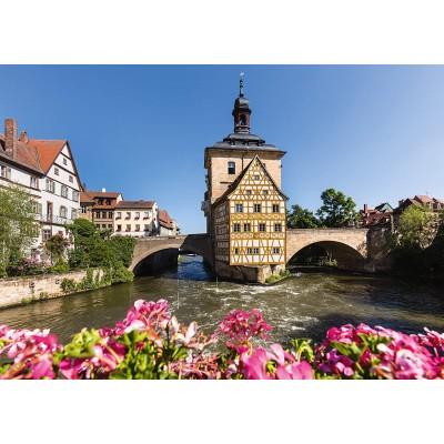 Puzzle  Schmidt-Spiele-58397 Bamberg, Regnitz und Altes Rathaus