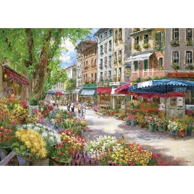 Puzzle  Schmidt-Spiele-58561 Sam Park: Pariser Blumenmarkt