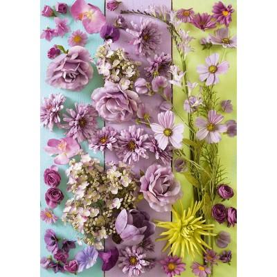 Puzzle  Schmidt-Spiele-58944 Violette Blüten
