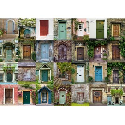 Puzzle  Schmidt-Spiele-58950 Collage - Türen