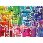 Puzzle  Schmidt-Spiele-58958 Rainbow Colours