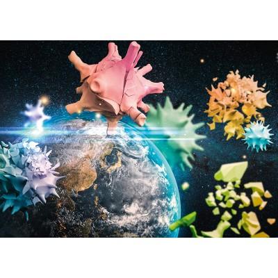 Puzzle  Schmidt-Spiele-58963 Planet Earth 2020