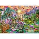 Puzzle  Schmidt-Spiele-58966 Verzaubertes Drachenland