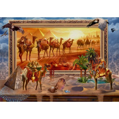 Puzzle  Schmidt-Spiele-59338 Jan Patrik Krasny Coming to Life, Die Wüste