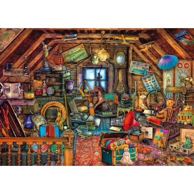 Puzzle  Schmidt-Spiele-59379 Aimée Stewart - Kostbarkeiten unter dem Dach