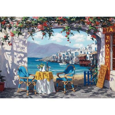 Puzzle  Schmidt-Spiele-59396 Sam Park, Rendez-vous auf Mykonos