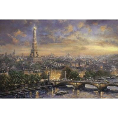 Puzzle  Schmidt-Spiele-59470 Thomas Kinkade - Paris, Stadt der Liebe