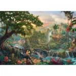 Puzzle  Schmidt-Spiele-59473 Thomas Kinkade - Disney Dschungelbuch